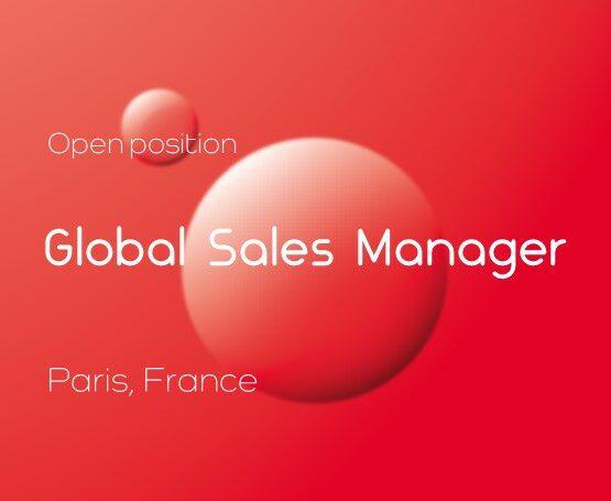 Open position: Global Sales Manager (Paris)